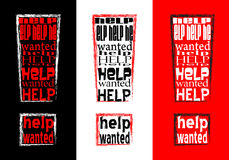 Help wanted. Sign, digital generated image vector illustration