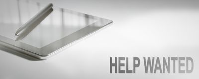 HELP WANTED Business Concept Digital Technology. Graphic Concept Stock Image