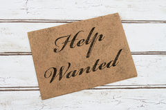 Help Wanted Card Royalty Free Stock Photos