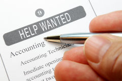 Help Wanted Classified Royalty Free Stock Photography