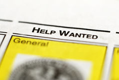 Help Wanted Classified Stock Photo