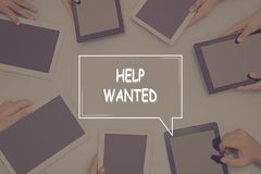 HELP WANTED CONCEPT Business Concept. Business Concept Stock Photography