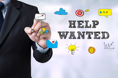 HELP WANTED CONCEPT Royalty Free Stock Photos