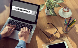HELP WANTED CONCEPT Stock Images