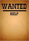 Help wanted grunge poster Royalty Free Stock Images