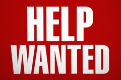 Help wanted sign. Stock Photos