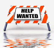 Help wanted Sign Displays Employment and Wanting Assistance Stock Photos