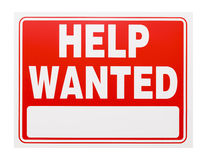 Help Wanted Sign Royalty Free Stock Photography