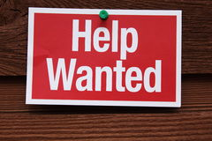 Help Wanted Sign Royalty Free Stock Photos