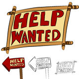 Help Wanted Sign Set Stock Photos