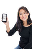 Help Wanted on SmartPhone Royalty Free Stock Image