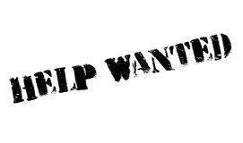 Help wanted stamp Stock Image