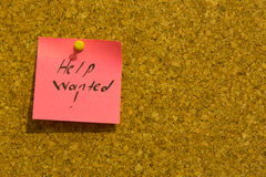 Help wanted sticky note Stock Photos
