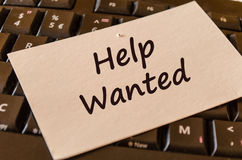 Help wanted text note Royalty Free Stock Images