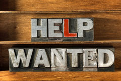Help wanted tray Stock Images