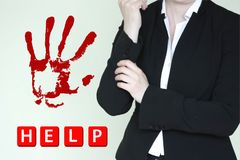 Help woman. woman business. Photo for your design.v Stock Photography