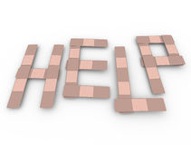 Help Word Bandages Medical Assistance Aid Support Royalty Free Stock Photos