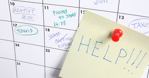 help word on calendar Royalty Free Stock Photos