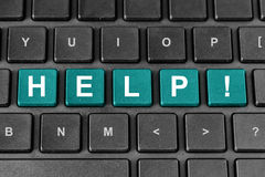 Help word on keyboard Royalty Free Stock Photo