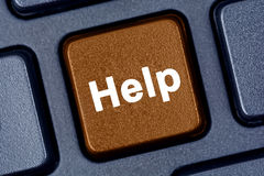 Help word on keyboard. Computer Royalty Free Stock Photo