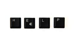 Help - word from keyboard keys Royalty Free Stock Photo