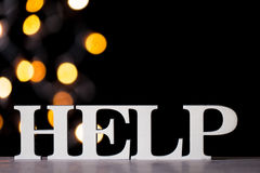 Help word, selective focus Royalty Free Stock Photo