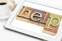 Help word typography Stock Photos