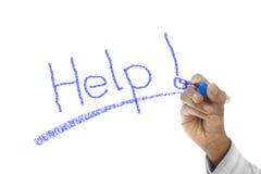 Help word written on wipe board Royalty Free Stock Image