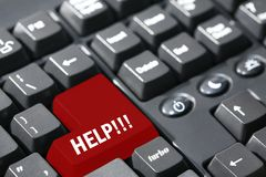 HELP!!! writen on keyboard Stock Photo