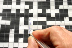 HELP written on a crossword. Puzzle Royalty Free Stock Images