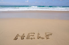 Free Help Written On Sand Stock Photos - 10227603