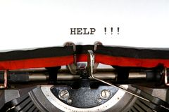 help written   typewriter Stock Photography