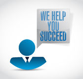 We help you succeed avatar message illustration. Design over a white background vector illustration