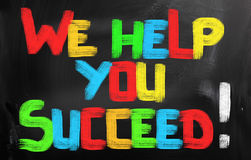 We Help You Succeed Concept Royalty Free Stock Photos