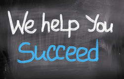 We Help You Succeed Concept Stock Photography