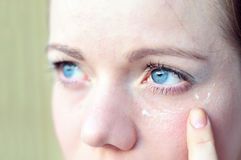 Help you tired eyes royalty free stock photo