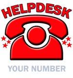 helpdesk czerwieni telefon ilustracja wektor