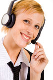 Helpdesk employee have's some fun Stock Photography