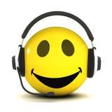 helpdesk för Smiley 3d Arkivbilder