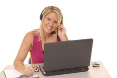 Helpdesk Girl 227 Royalty Free Stock Images