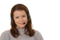Helpdesk Girl 404 Royalty Free Stock Images