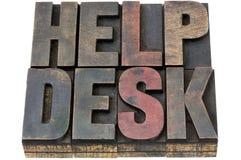 Helpdesk in houten type Stock Afbeeldingen