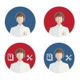 Helpdesk ikona Zdjęcia Stock