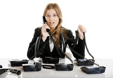 Helpdesk line Stock Photography