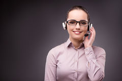 The helpdesk operator in communication concept Royalty Free Stock Images