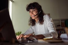 Helpdesk operator Stock Image