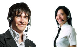 Helpdesk operator team Stock Images