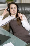Helpdesk or support operator. Stock Photo