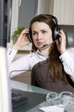 Helpdesk or support operator. Royalty Free Stock Image
