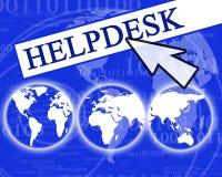 Helpdesk virtuel Image libre de droits